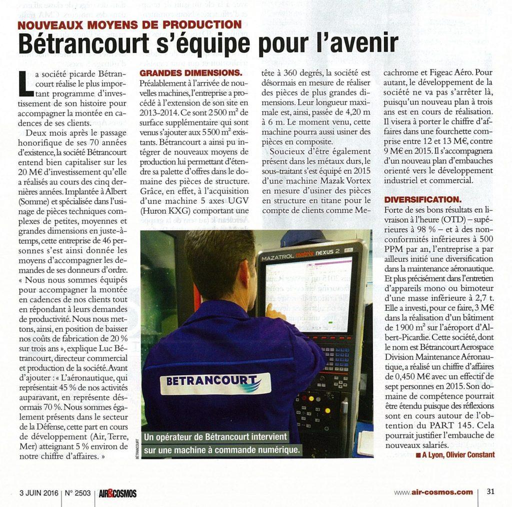 Bétrancourt s'équipe pour l'avenir